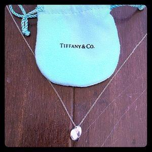 Tiffany & co frank gehry folded heart necklace